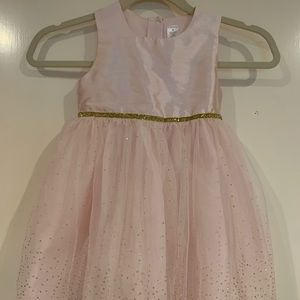 Girls Sparkle Pink and Gold Dress, 4T